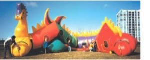 Sammy the Seahorse | Light weight inflatable game rentals