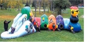 Kool Kat Kiddie Obstacle Course |Rent Kiddie Inflatables NJ